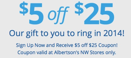 albertsons $5 off $25 purchase coupon