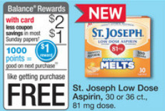 free st. joseph low dose aspirin at walgreens