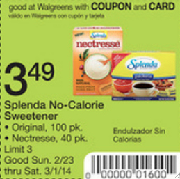splenda at walgreens